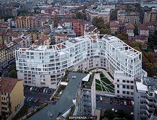 esperienza drone immagine portfolio architettura aerea zenitale diurna milano residenze carlo erba cinque.jpg